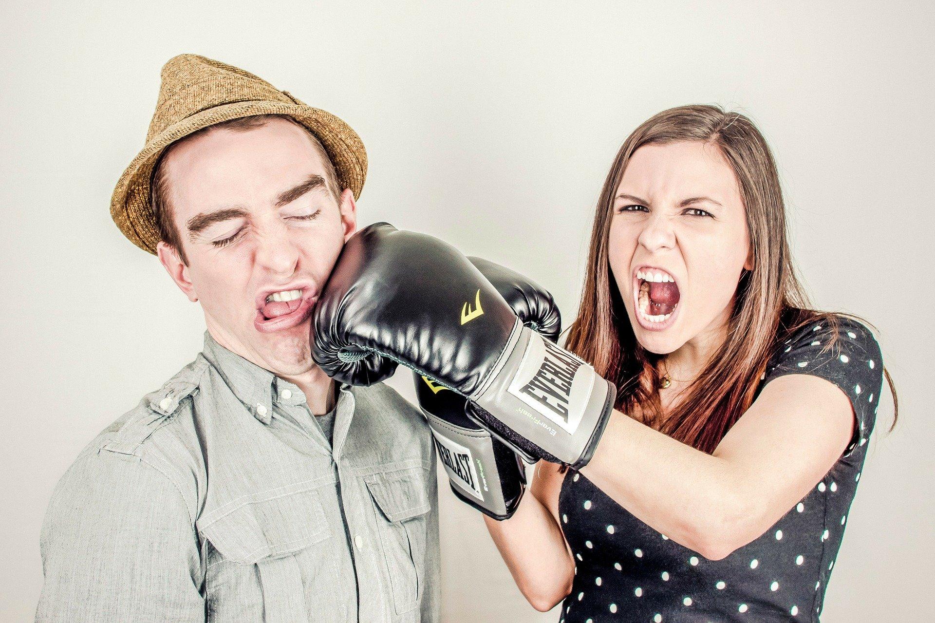 partnerská rvačka